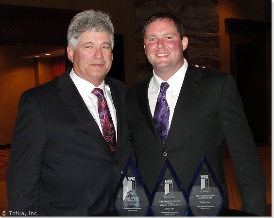 Tofka Inc.'s Mike and Clint Carson at the Home Builders of Greater Austin MAX Awards Banquet